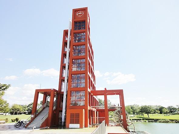 水の塔(落合公園)からの眺め、春日井市内を一望出来ます。