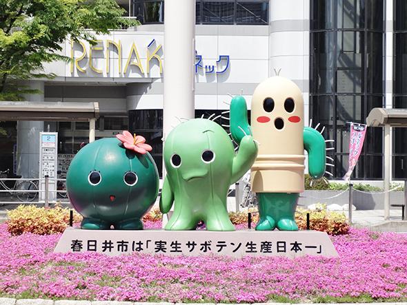 春日井市の全ゆるキャラ(道風くん、・はるかぜちゃん・春代日丸井之介・カスニャン)