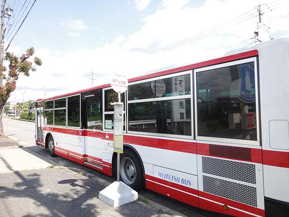 坂下公民館の名鉄バス停留所