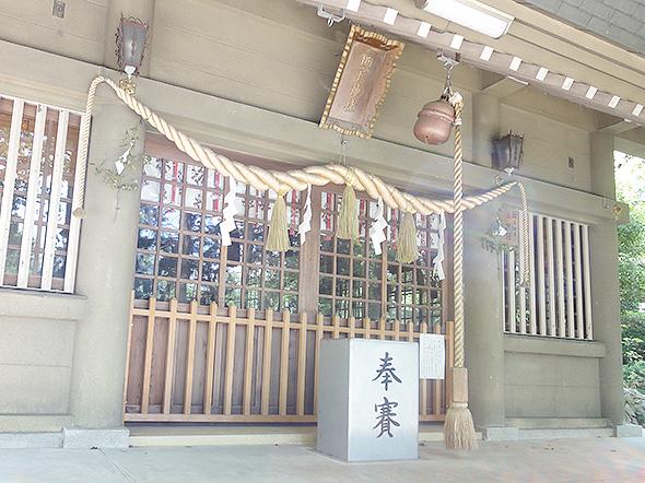 坂下神社-春日井市坂下町にある大相撲夏場所で立浪部屋などが利用する神社