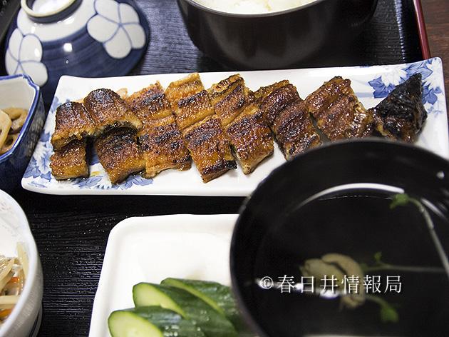 柳川の鰻長焼き定食
